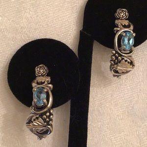 Jewelry - Beautiful 💙 Sterling silver & stone Earrings